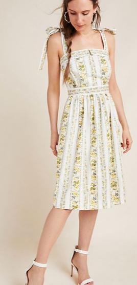 Gal Meets Glam Arina Dress, floral bow tie shoulder dress, summer wedding guest dress, garden party dress