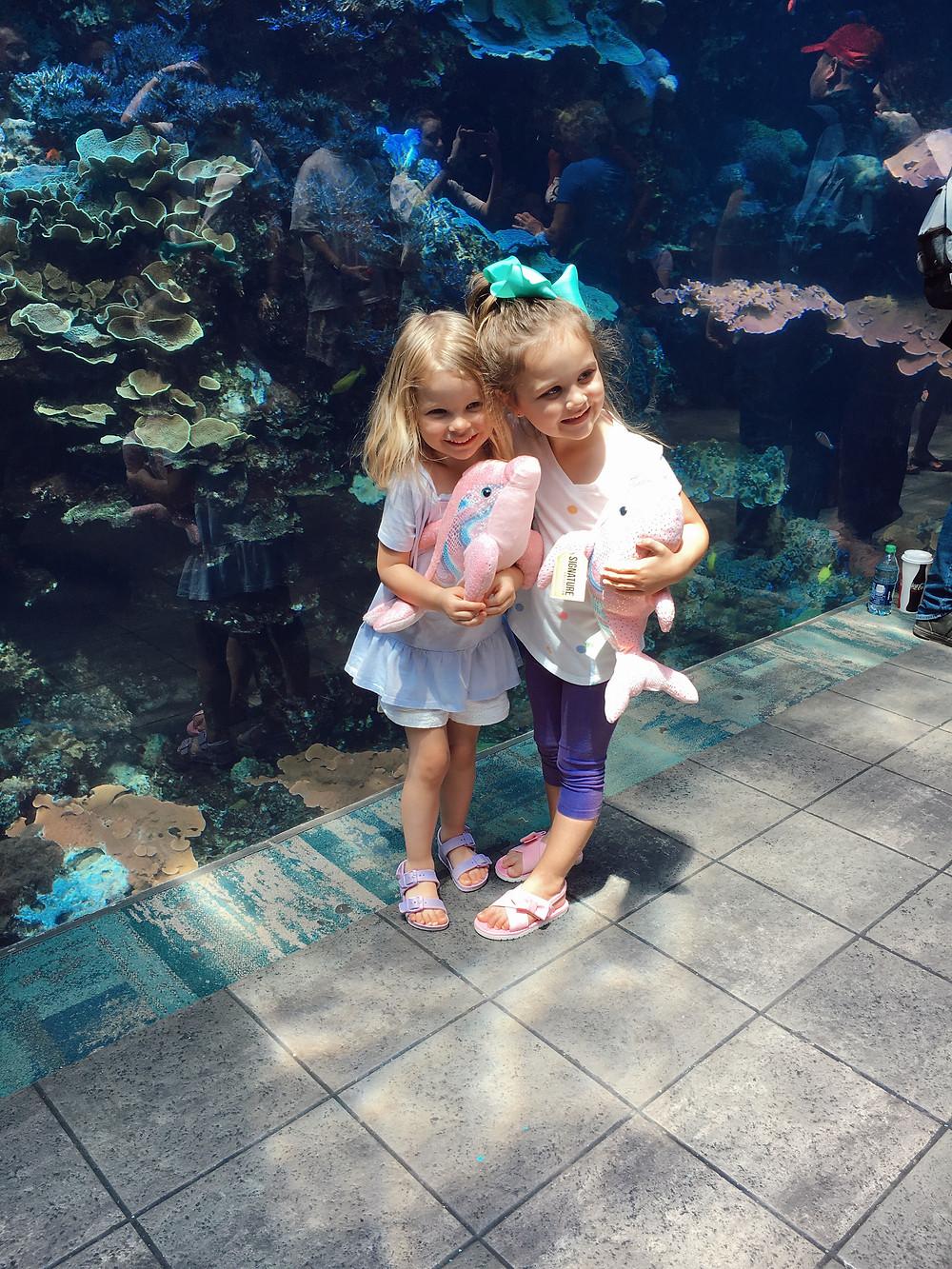kids at georgia aquarium