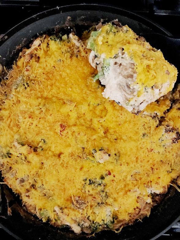 Healthy Comfort Food: Creamy Chicken, Cheese, & Broccoli Casserole