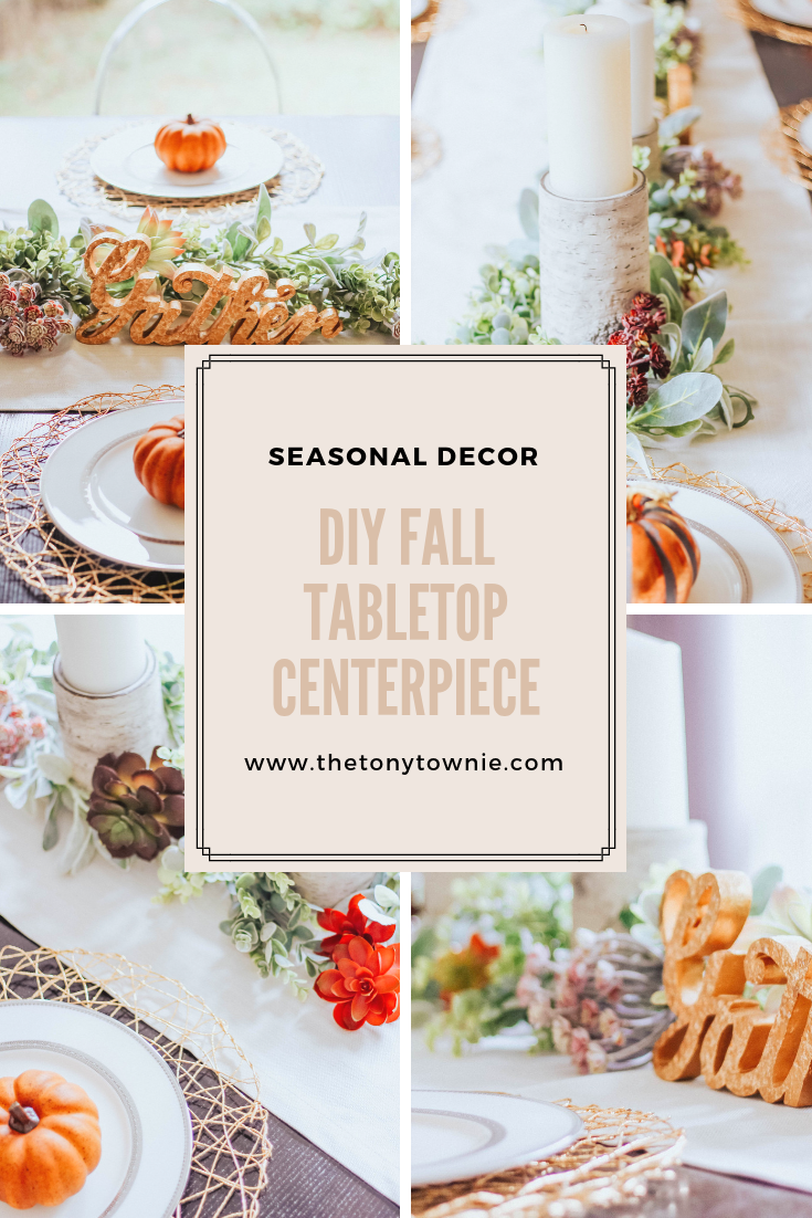 Fall-Holiday-Tabletop-Decor-Centerpiece-Birch-Eucalyptus-Pumpkins-Succulents-Mixed-Metallics