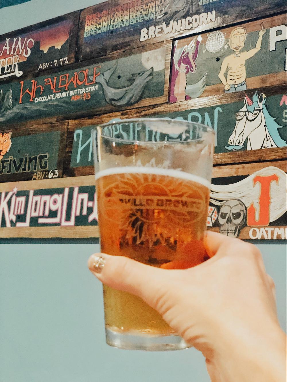 Asheville Brewing Company 828 Pale Ale downtown Asheville