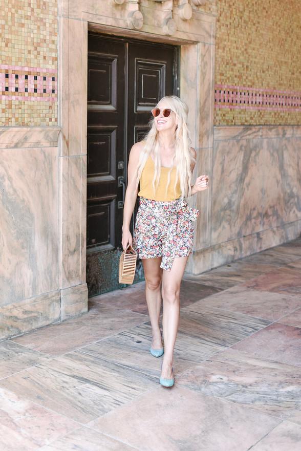 Summer Outfit Idea: Tie-Waist Shorts