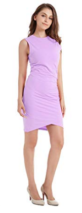 Amazon Fashion pink ruched tank dress