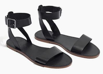 Madewell Boardwalk Ankle Strap Sandal, black summer sandals