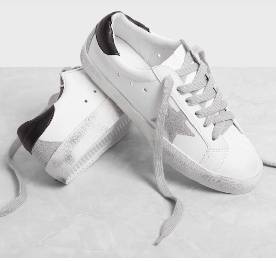 Star Patch lace-up sneakers, SheIn, Golden Goose lookalike sneakers