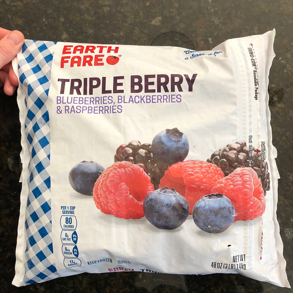 Earth Fare Frozen Triple Berry pack