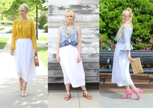 Spring Style: One White Skirt Three Ways