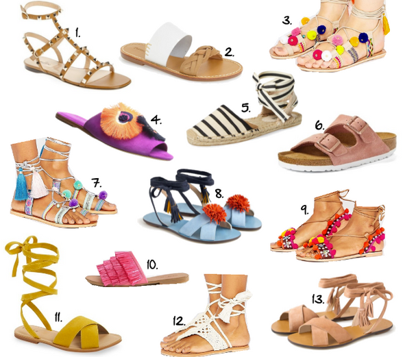 Fun Flat Sandals For Spring