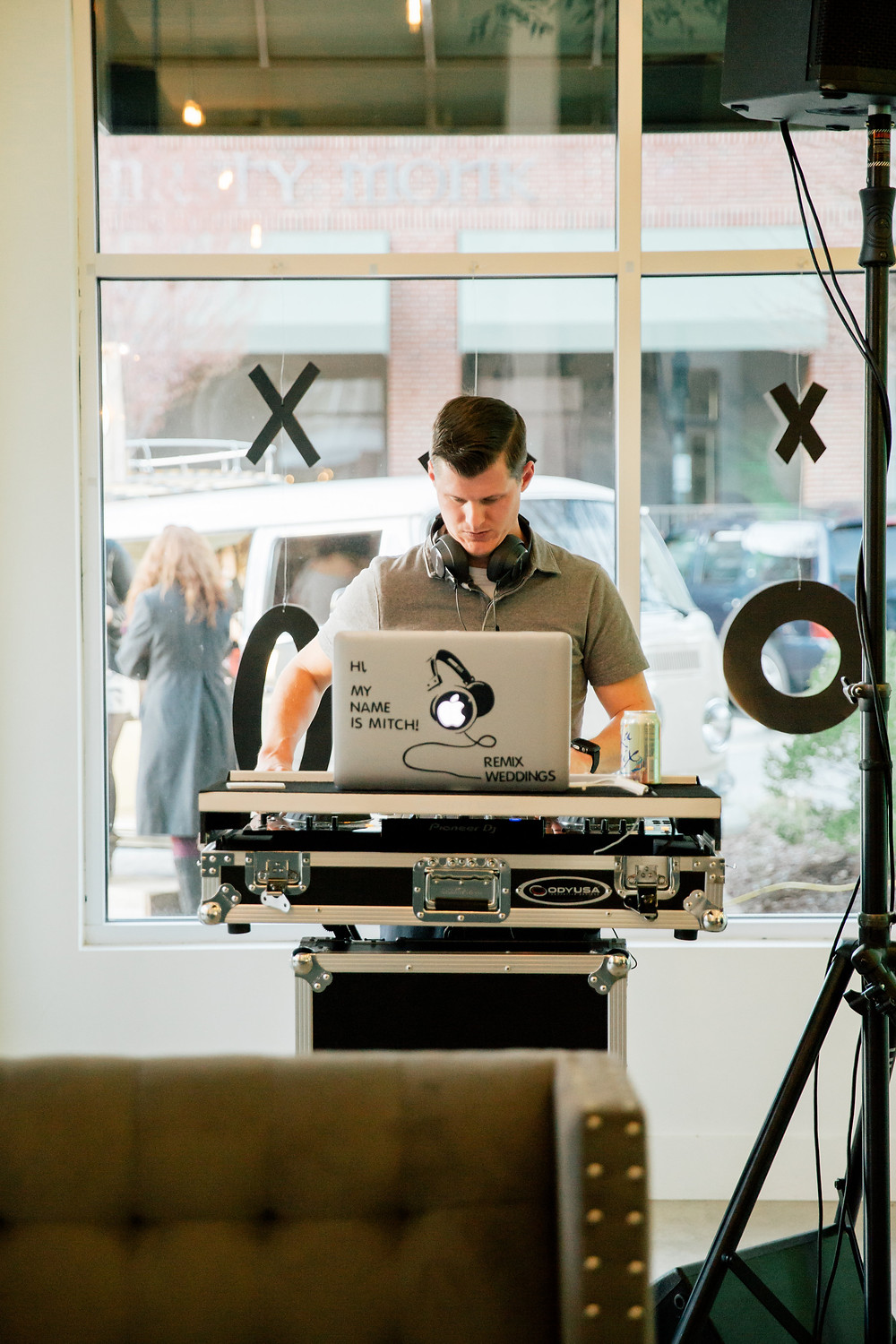 DJ Mitch spins tunes for Engaged Launch party