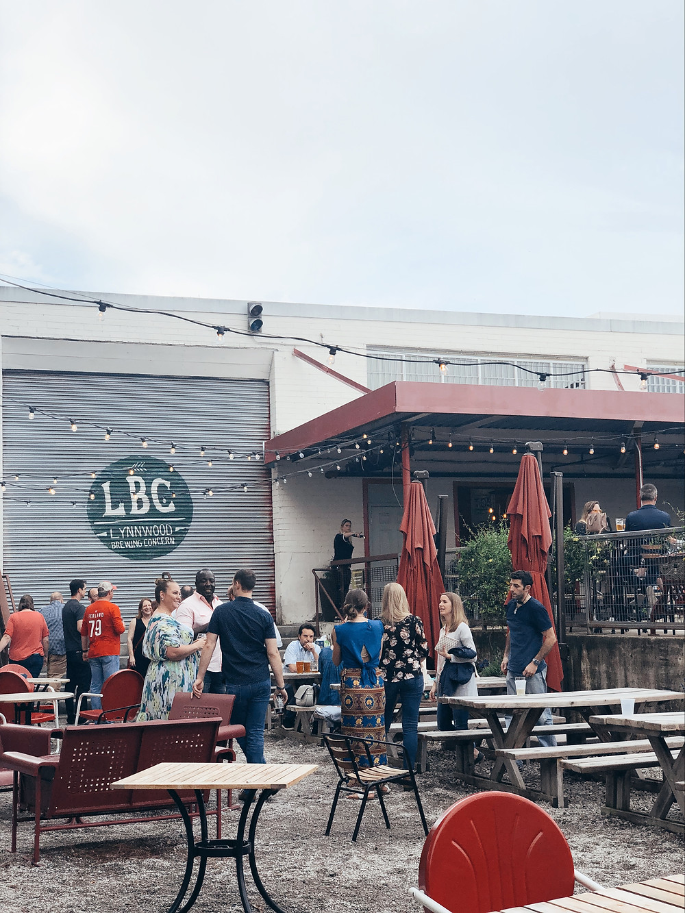 Outdoor patio of Lynnwood Brewing Concern
