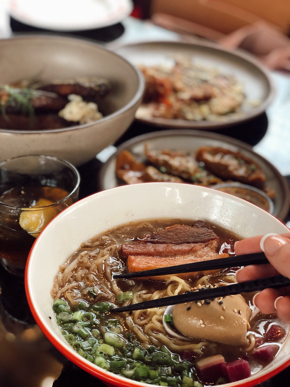 Gan Shan Station, Asheville restaurant, pork ramen bowl, Asian food and fare, Visit Asheville, local favorite