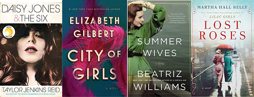 Best summer beach reads book list Daisy Jones and the The Six, City of Girls, The Summer Wives, Lost Roses