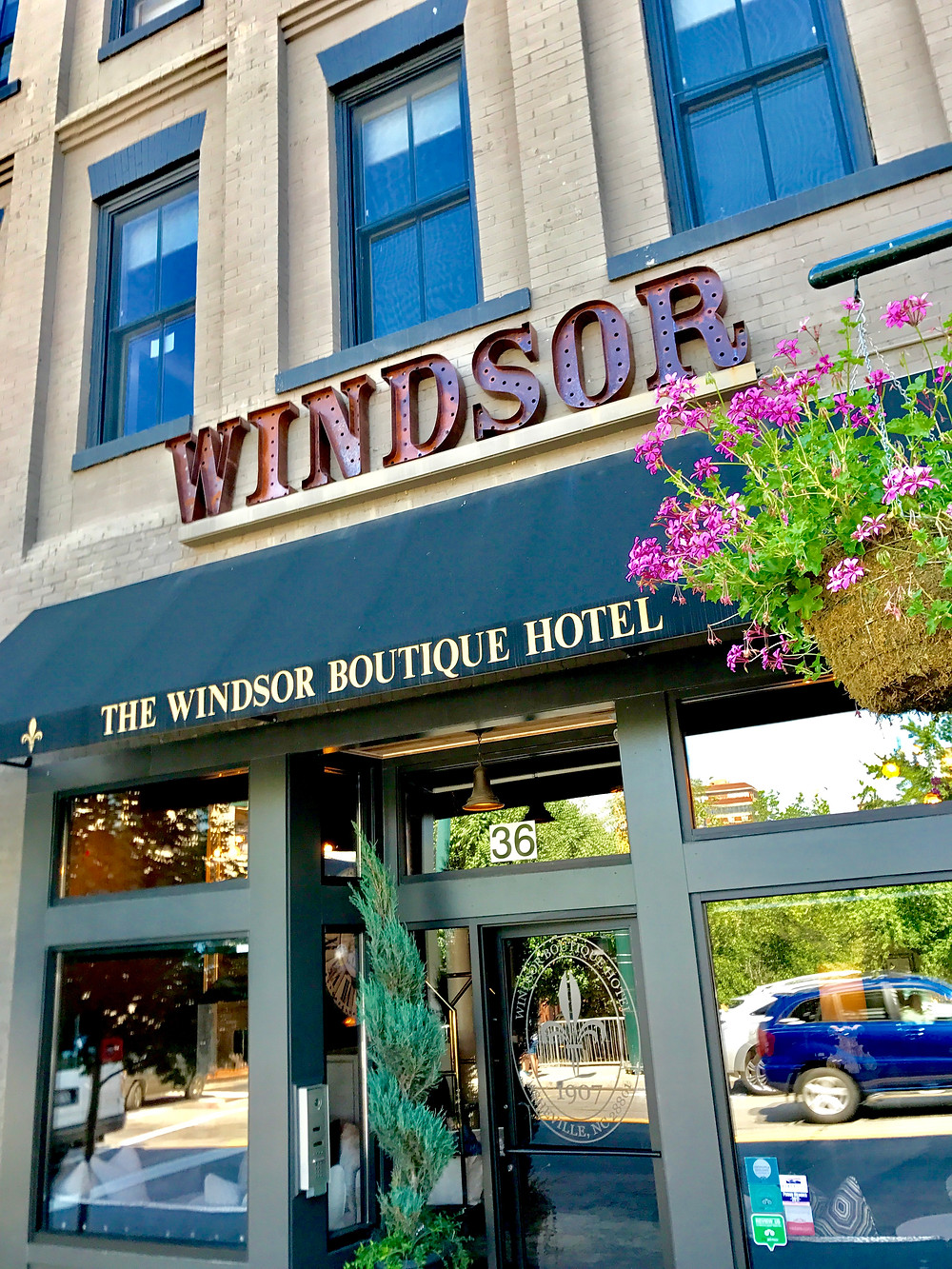 The Windsor Hotel in downtown Asheville, NC
