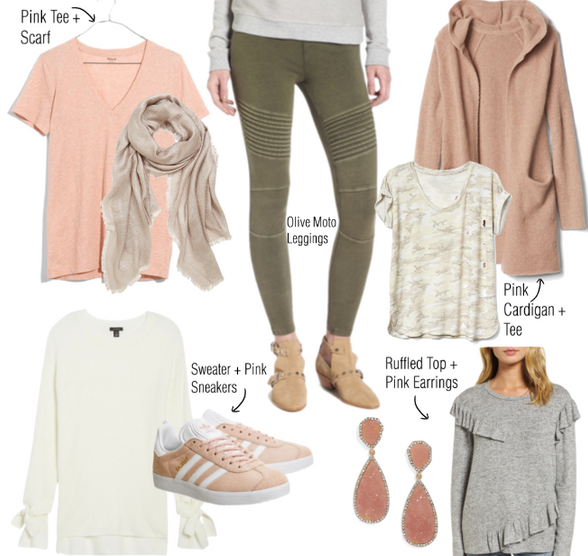 Fall Color Combo: Pink + Olive