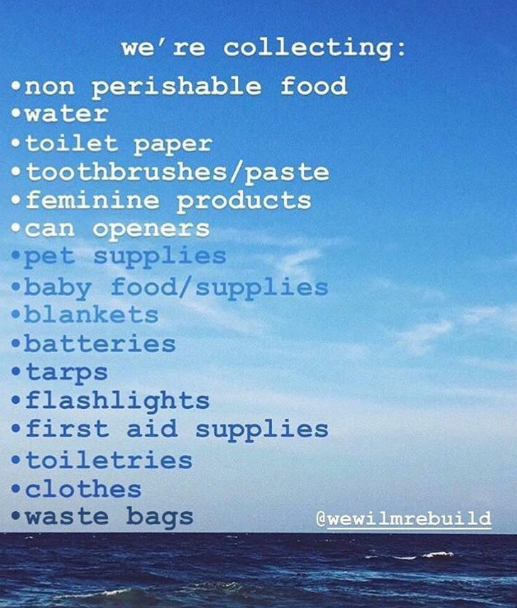 Hurricane Florence disaster relief supplies