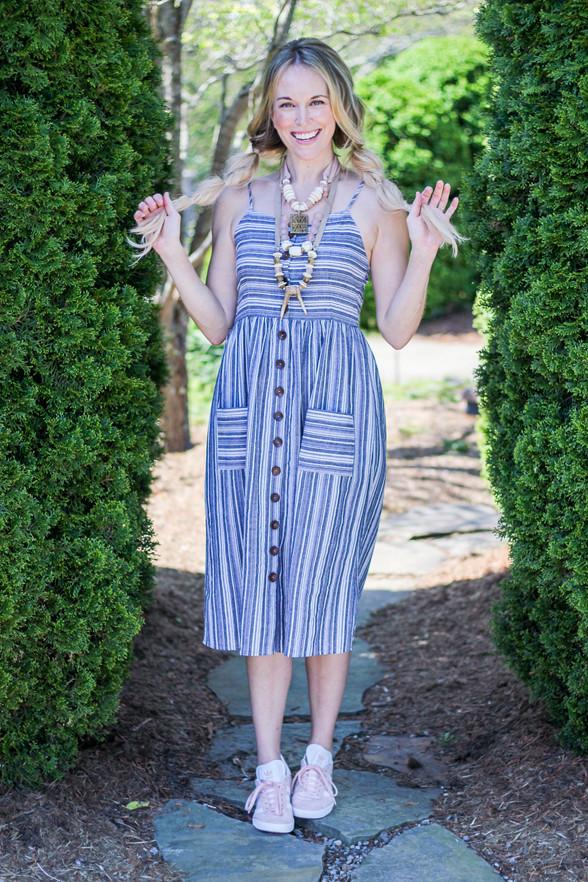Day-to-Night Striped Dress