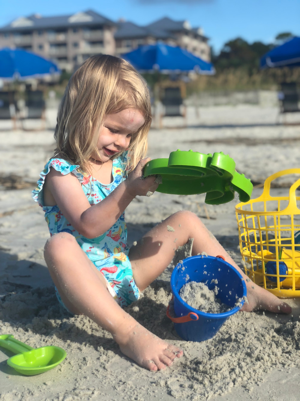 Family beach day Grande Ocean Marriott Hilton Head Island