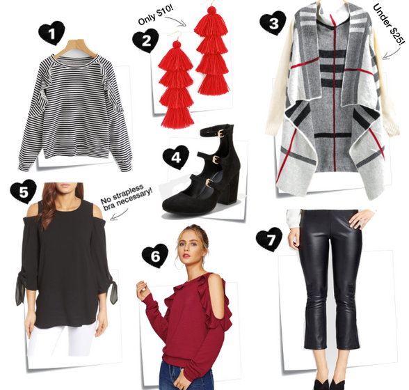 Frugal Friday: Black, White + Red All Over