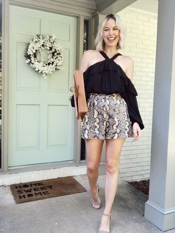 Snakeskin Print Shorts For Day or Date Night