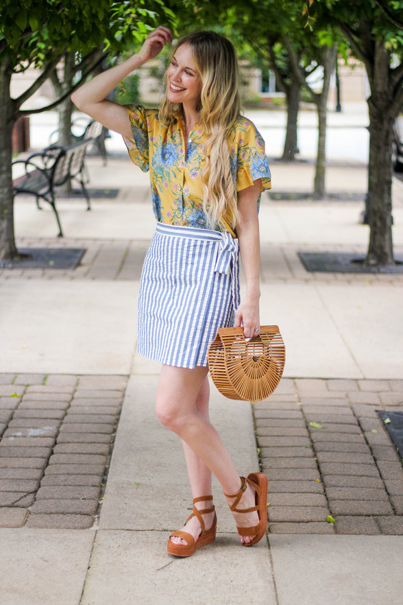 How To Mix Stripes and Floral Prints