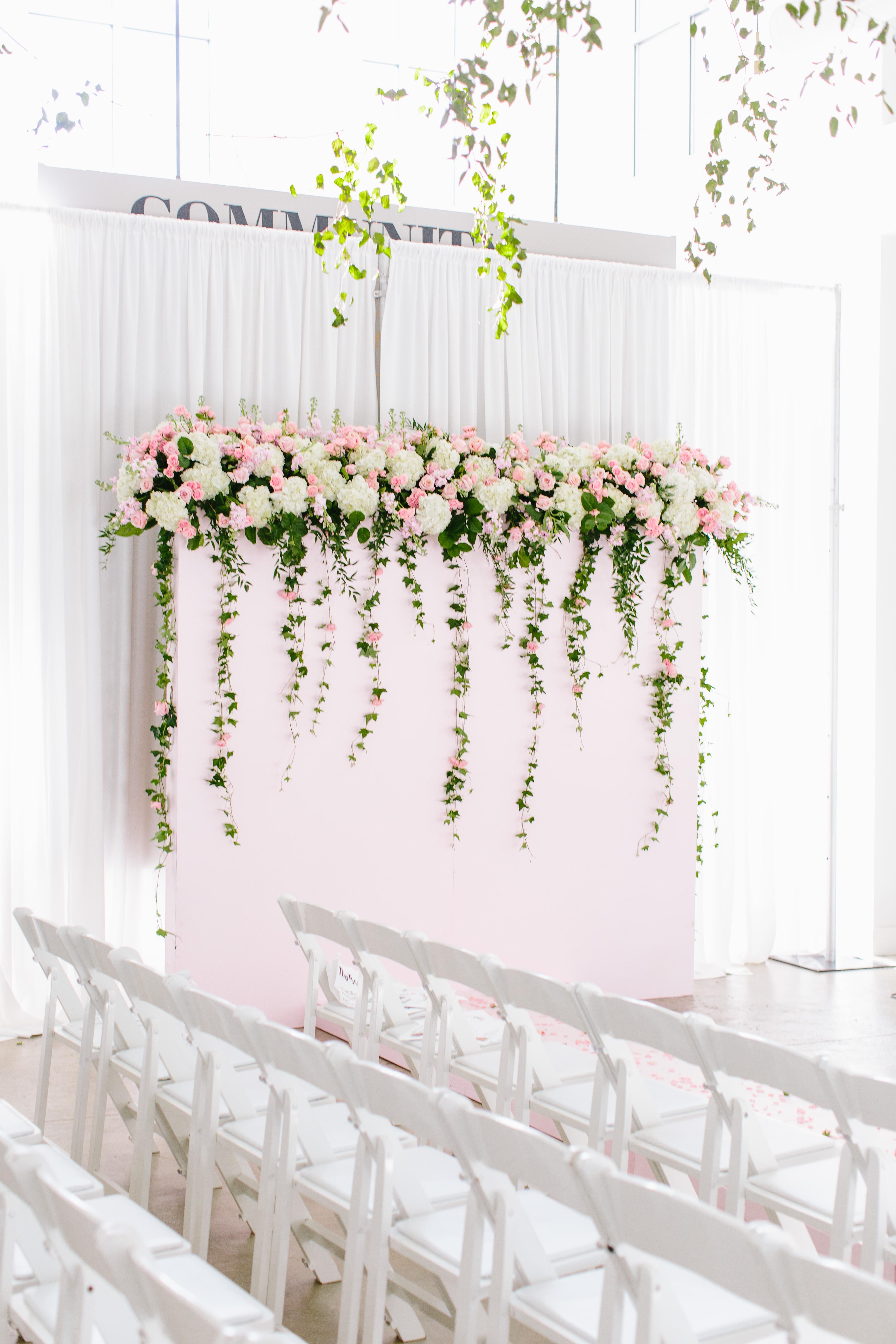 Flower Wall Runway - Little Pearls On The Runway - Selah Bea - Engaged Studio Asheville