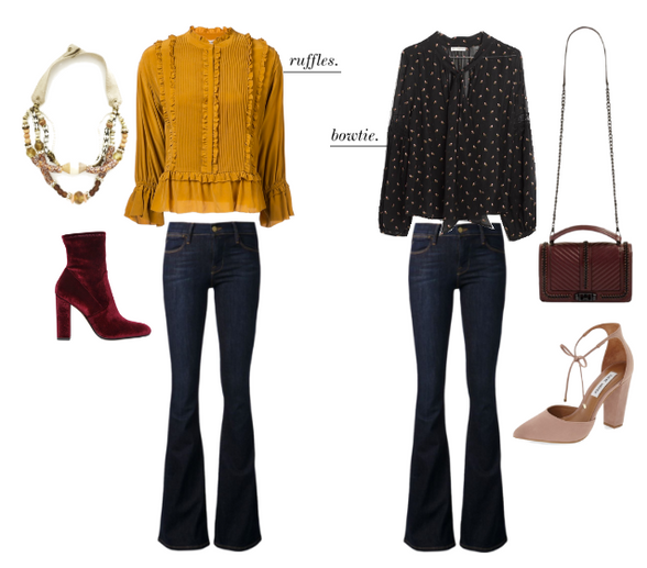 Four Ways to Wear Flare Jeans