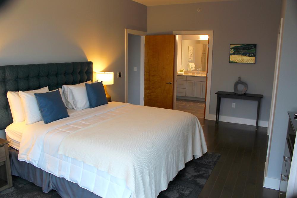 45 Asheland Avenue rental condo master bedroom view