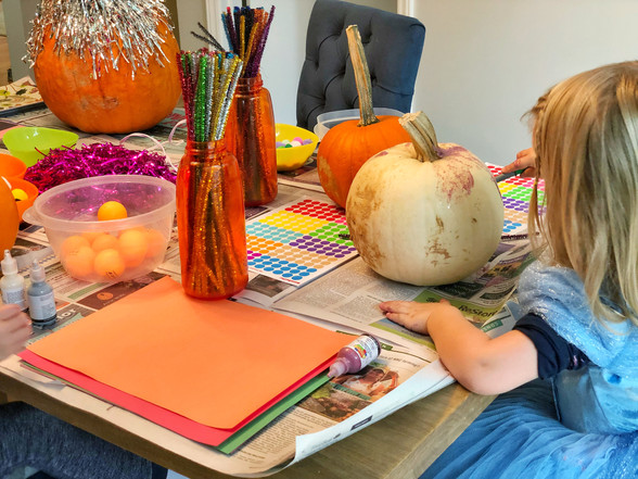 No Carve Pumpkin Decorating Party for Kids