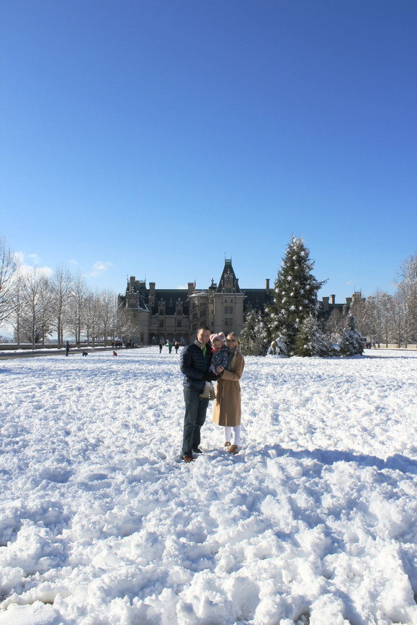 Family Snow Day at Biltmore Estate