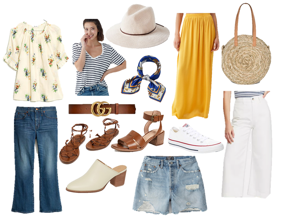14 pieces of clothing for a summer capsule wardrobe, how to build a capsule wardrobe, wardrobe stylist