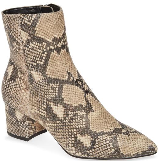 Dolce Vita Bel snakeskin print ankle booties