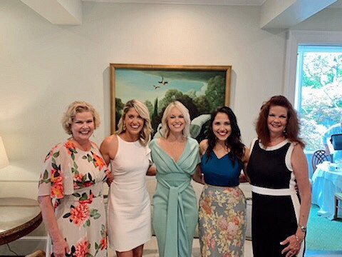 southern summer bridal shower, ladies at swan coach house