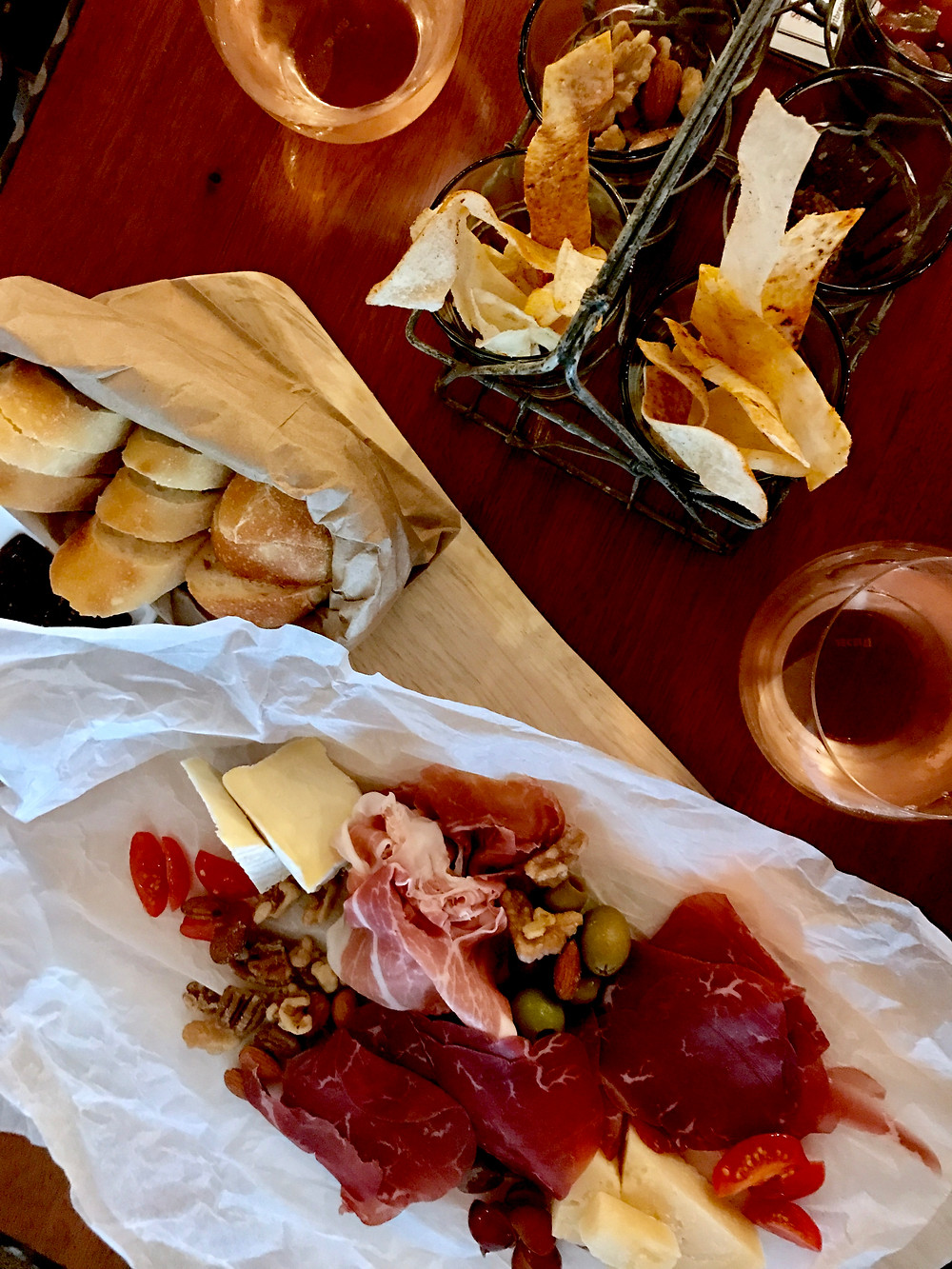 charcuterie and cheese board at Dilworth Tasting Room in Charlotte NC
