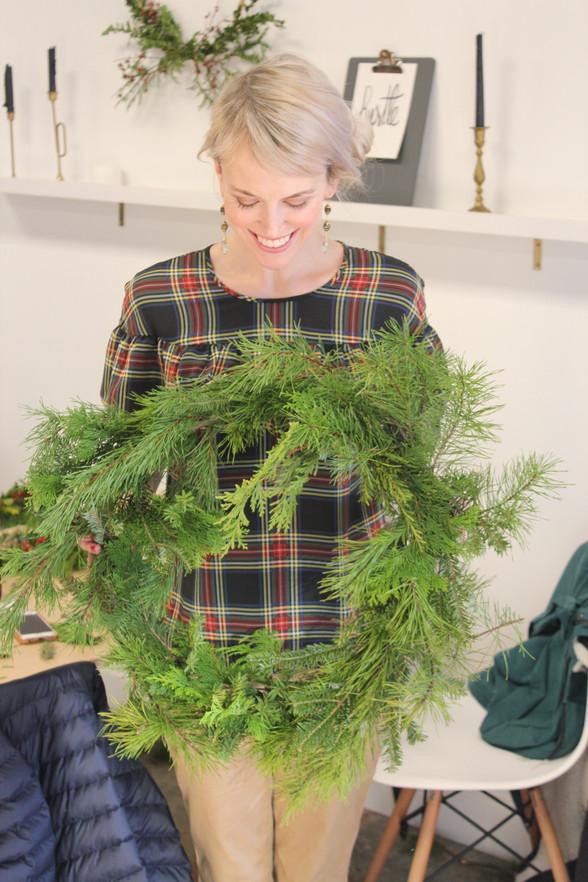 Wreath Making with Asheville Folk