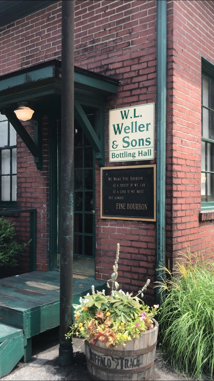 Exterior of W.L. Weller & Sons bottling hall at buffaloTrace distillery in Frankfort Kentucky, How to plan trip to Kentucky Bourbon Trail, Travel Guide