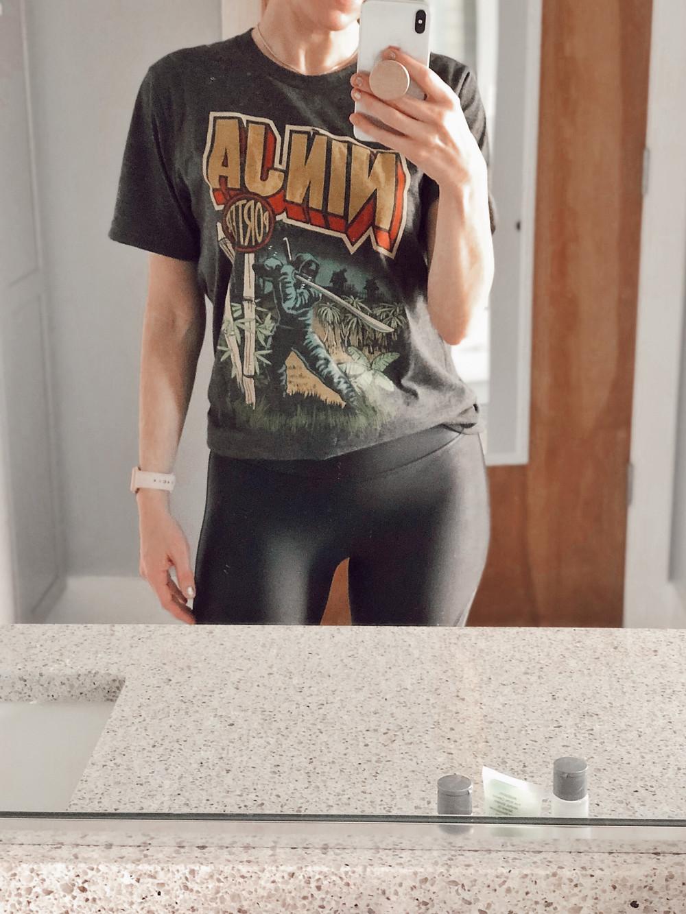 Asheville Brewing Company ninja porter womens t-shirt
