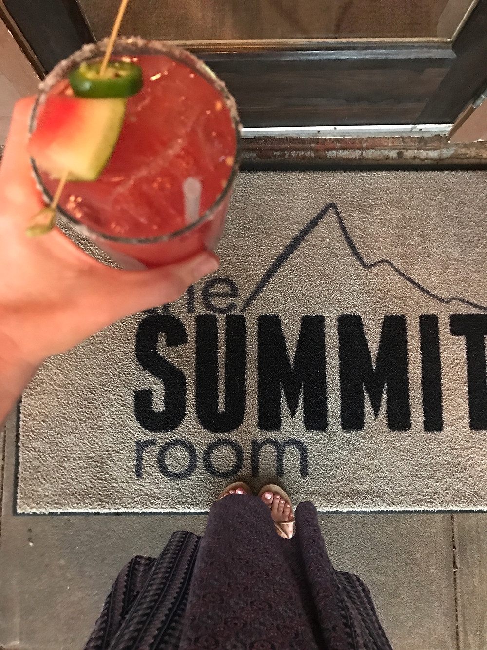 Spicy margarita at The Summit Room in Charlotte NC
