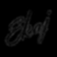 Ekaj Sig - black letters - trasnparent b