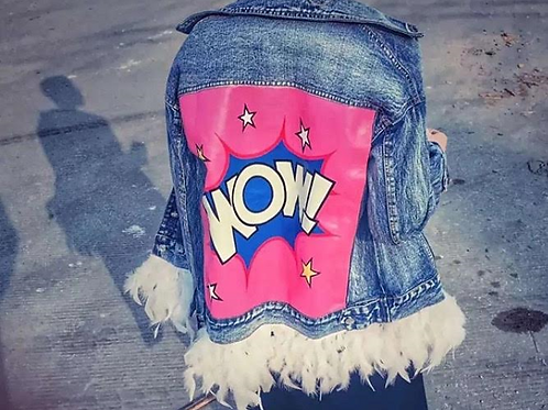 POW WOW FEATHER JEANS JACKET
