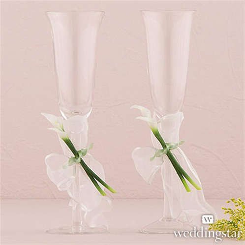 Bridal Beauty Calla Lily Toasting Set