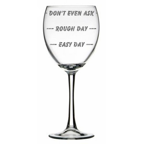Easy Day Rough Day Glass