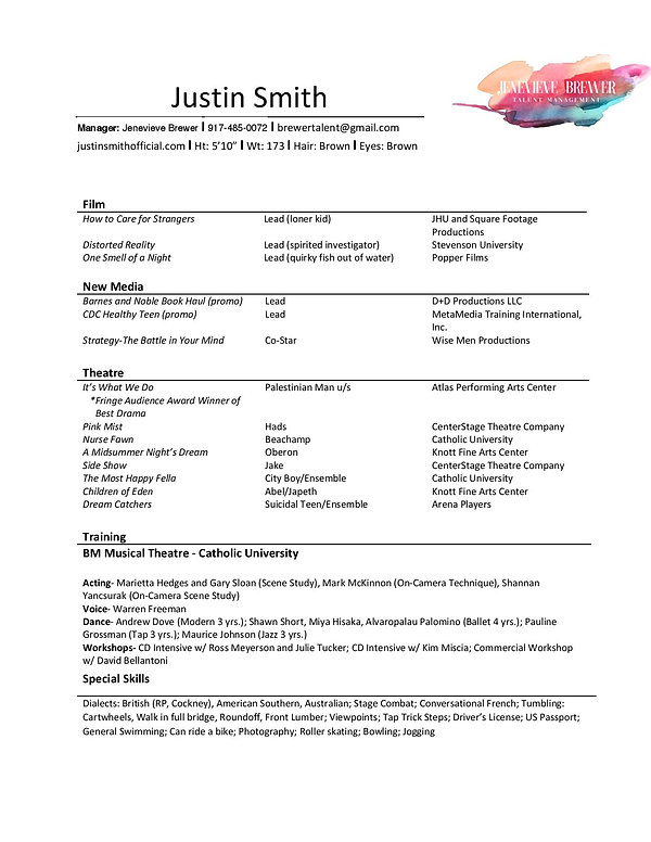 Justin Smith Resume with Management (cur