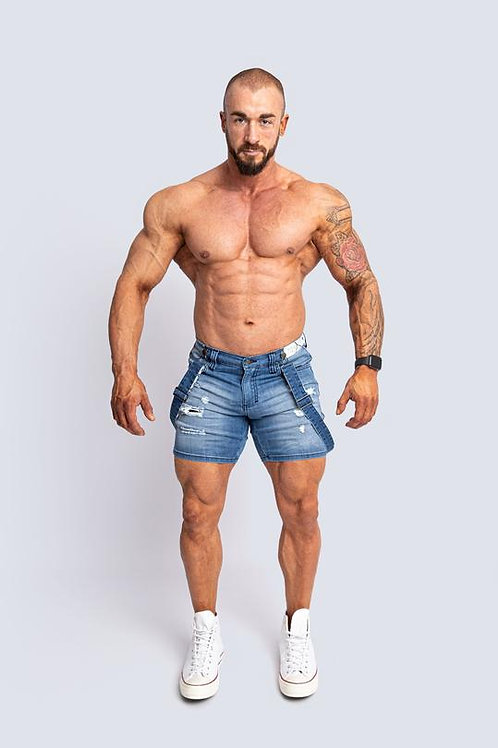 Tigerhorse Romey Sky Blue Denim Short