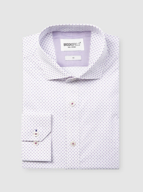 Brooksfield Career Abstract Print Business Shirt