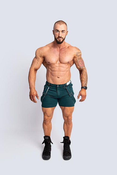 Tigerhorse Joey Deep Green X-Stretch Short