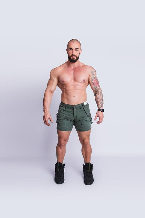 Tigerhorse Romey Army Green X-Stretch Short
