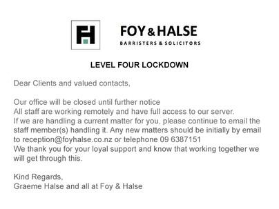 Level Four Lockdown