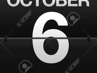 10月6日お休みします