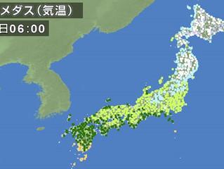 東京最高気温12℃