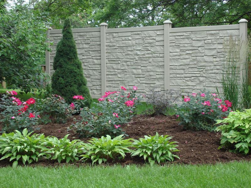 Beige Granite SimTek Fence